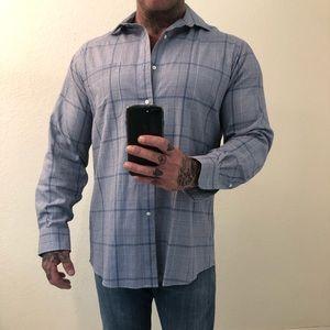 Men's dress shirt button down